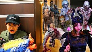 大量のゾンビと魔女がハロウィンに!ナーフ ゾンビ映画とゲームを融合! thumbnail