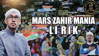 Mars zahir mania lirik terbaru 2019
