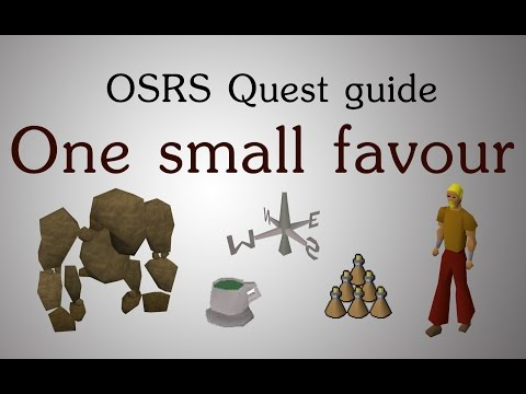 [OSRS] One small favour quest guide