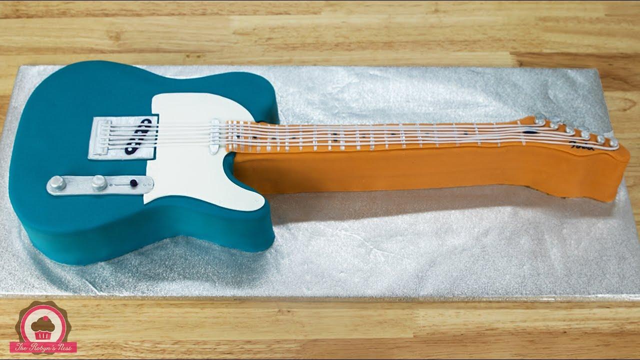 Guitar Birthday Cake Youtube