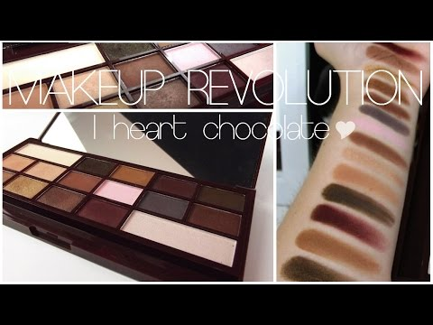 "Revue | Makeup Revolution : Palette ""I Heart Chocolate"" ♥"