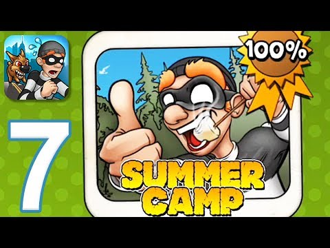 Robbery Bob - Gameplay Walkthrough Part 7 - Chapter 7: Summer Camp (iOS, Android)