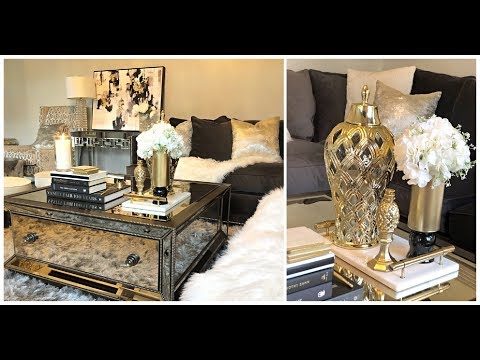 DIY GLAM COFFEE TABLE DECOR IDEAS