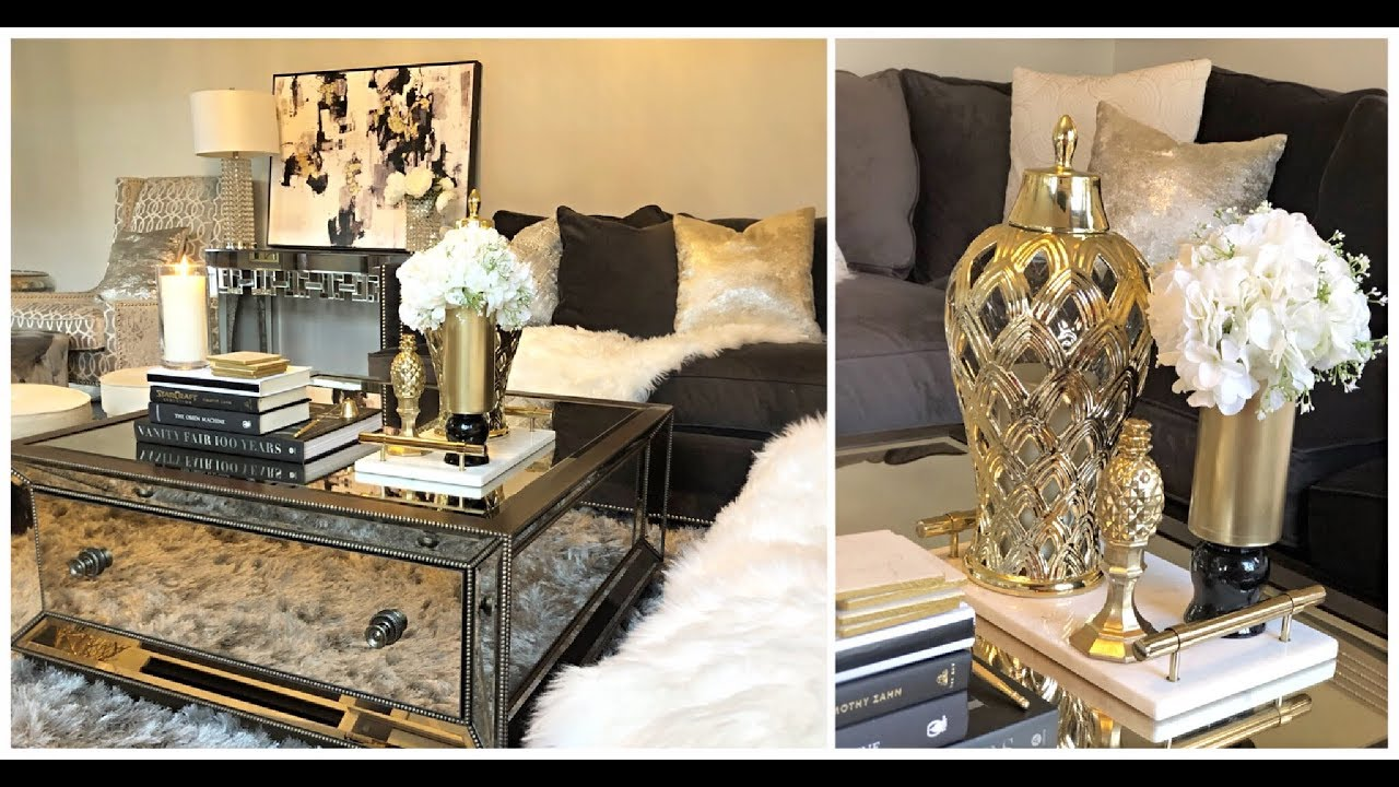 Diy Glam Coffee Table Decor Ideas Youtube