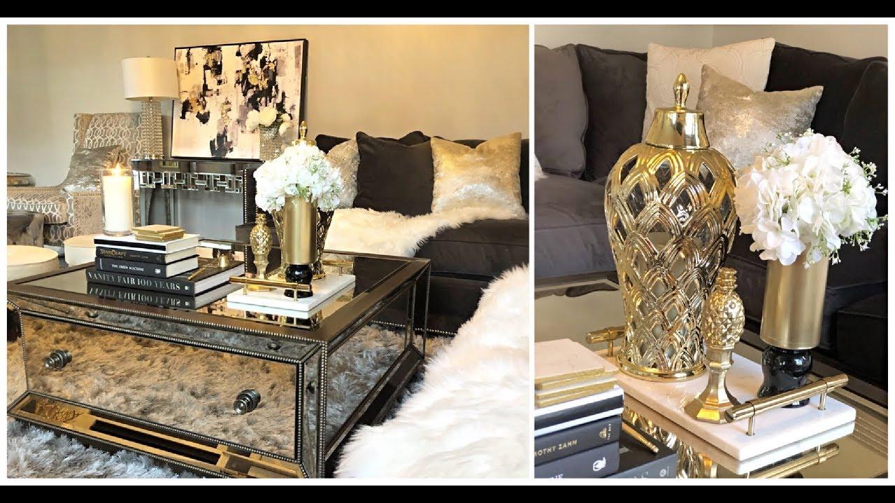 Diy Glam Coffee Table Decor Ideas Youtube