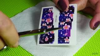 Как делать маникюр со слайдером-дизайном для ногтей на гель-лаке