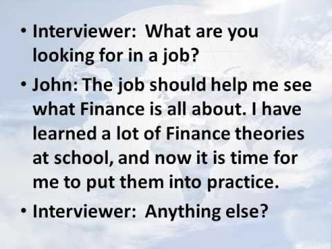 English for Accounting: job int practice  for accounting