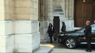 Les obsèques de Liliane Bettencourt à Neuilly-sur-Seinr