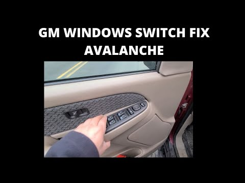 GMC/ CHEVY DOOR WINDOW SWITCH FIX How To FIX Power WINDOWS Switch Panel Troubleshooting GMC