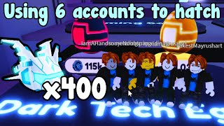 I Used 6 Accounts And Hatch 400 Mythical Prototype!  Pet Simulator X Roblox