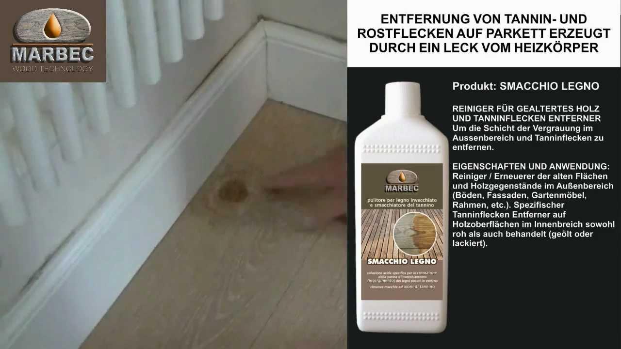 Holzfußboden Flecken Entfernen ~ System entfernung von tannin und rostflecken auf parkett erzeugt