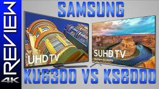 samsung ks8000 vs ku6300 hdr vs 4k led tv 4k hdr review