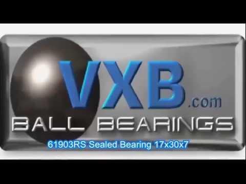 61903RS Sealed Bearing 17x30x7 Ball Bearings
