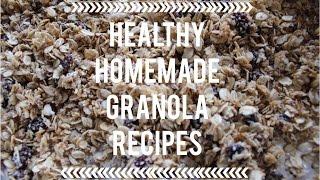Healthy Homemade Granola Recipes ♥ Thumbnail