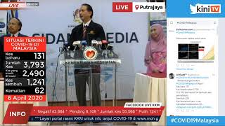 LIVE: Covid-19 situation update by Health DG Dr Noor Hisham Abdullah