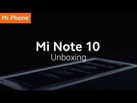 Mi Note 10: Unboxing