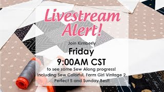 Behind the Seams Sew Along progress with Kimberly including Sew Colorful FGV2 Perfect 5 and more