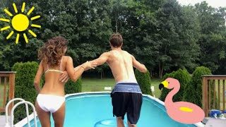 He Made Me Jump Into The Pool...