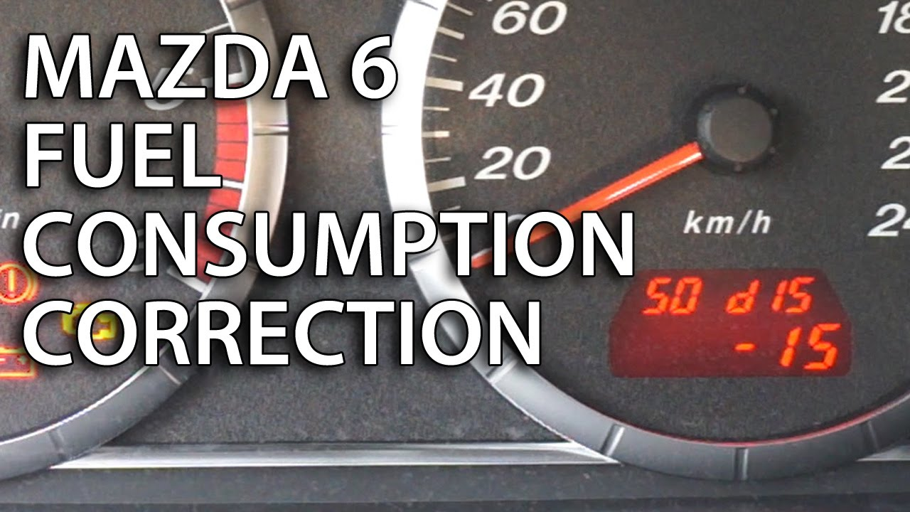 Superior How To Calibrate Fuel Consumption In Mazda 6 (trip Computer Correction)    YouTube