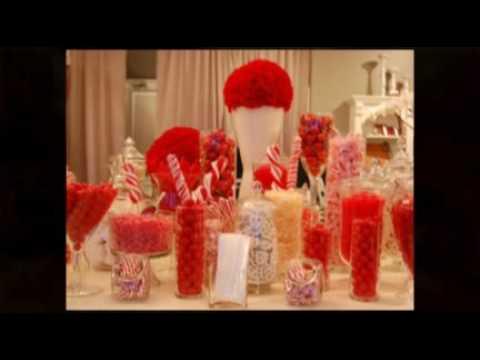 Holiday Walk, Santa Monica - Red & White Candy  Buffet Bar & Holiday Candy Bar