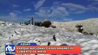 Parque Nacional Cajas amaneció cubierto de nieve