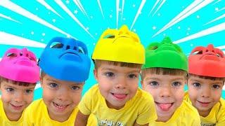 다섯 엄격한 아빠 + 더보기 | 동요와 아이 노래 | 어린이 교육