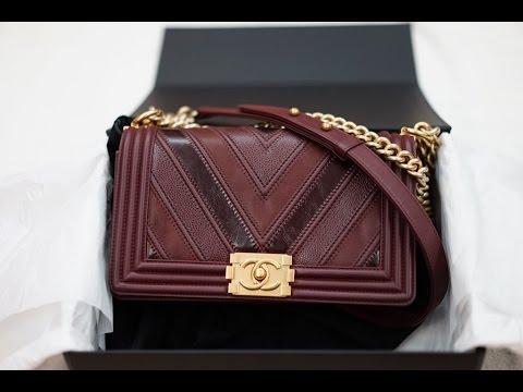 f141a31651971f Chanel Boy Medium Chevron Red Caviar Suede & Calfskin - YouTube
