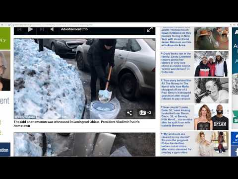 Blue Snow In Russia! Chemtrails? Chemical Spill? What Caused it?