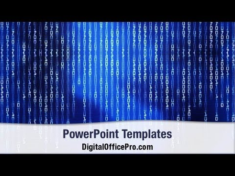 Binary Code Matrix PowerPoint Template Backgrounds