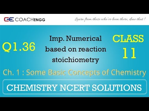 Some Basic Concepts of Chemistry Q1.36 Chapter 1 NCERT solutions CHEMISTRY Class 11
