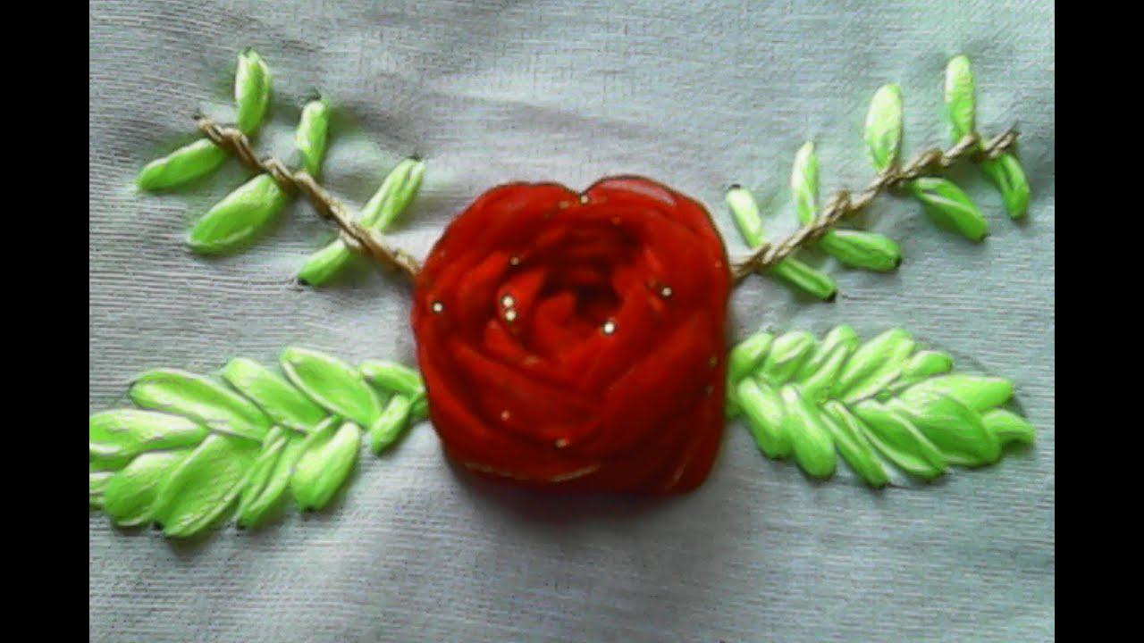 Kreasi sulam pita-Cara membuat bunga mawar dari pita-How ... - photo#31