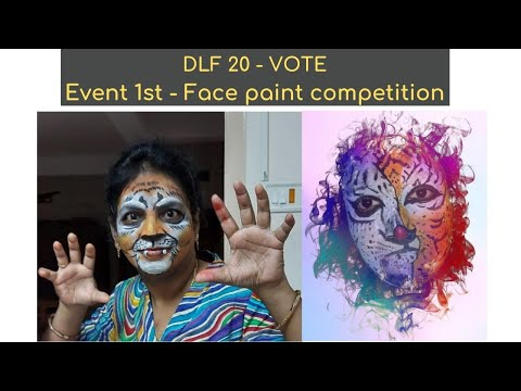 DLF 20 event face paint competition vote