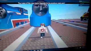 ROBLOX Thomas & Friends The Great Race Driving Shooting Star Gordon ( Accdently off a cliff )