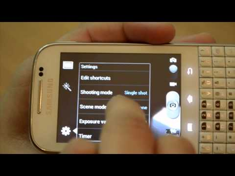 Samsung Galaxy Chat Camera Hands On Review Video