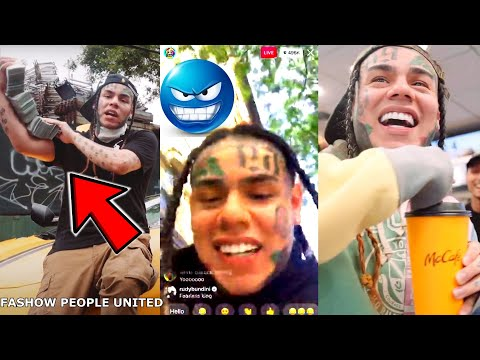 TEKASHI 6IX9INE GOES ON IG LIVE AND WALKS AROUND IN BROOKLYN WITH NO SECURITY **I'M THE KING OF NY**