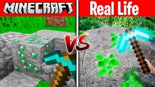 MINECRAFT EMERALD IN REAL LIFE! (MINECRAFT vs REAL LIFE)