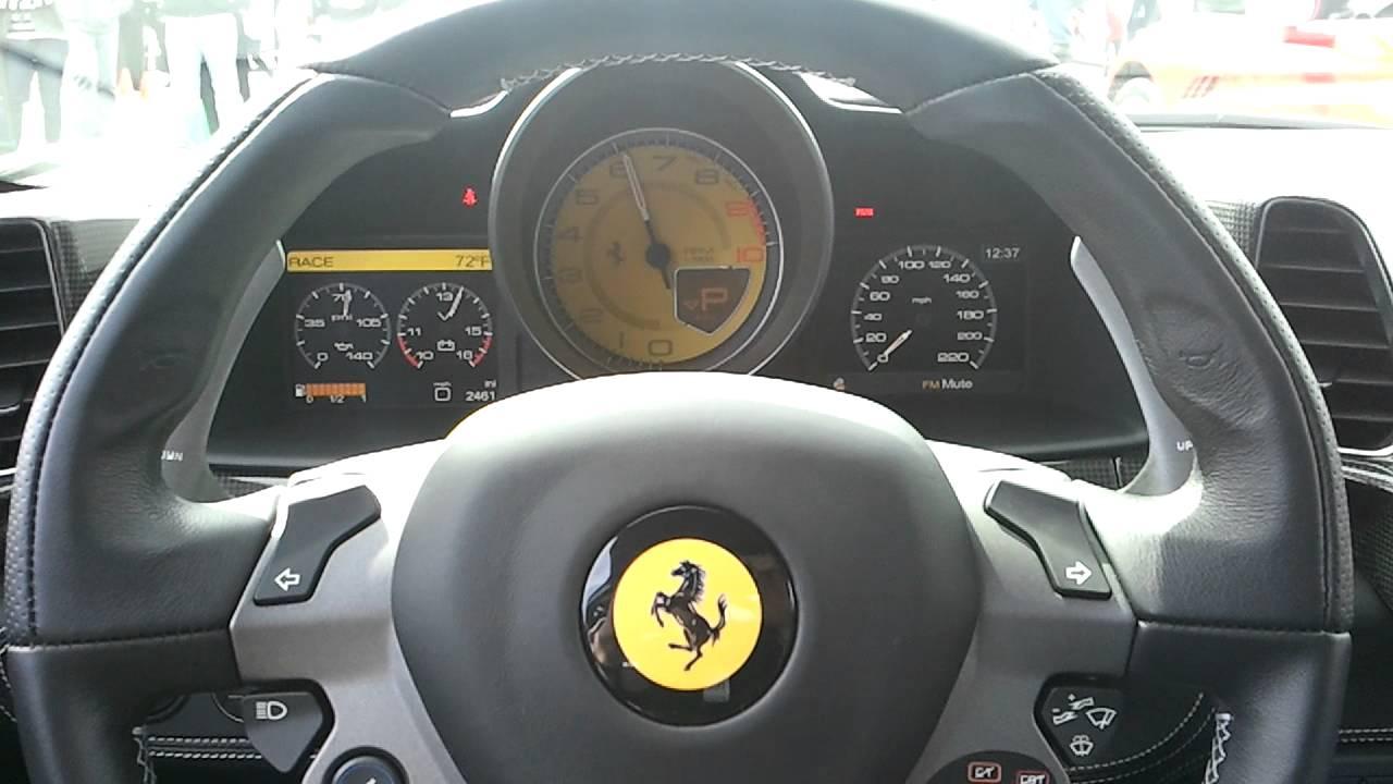 Ferrari 458 Italia Gauge Cer Revving