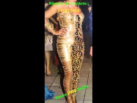 Vestido de Boda Gitana en Dorado