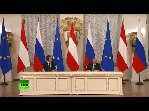 Putin & Austrian Chancellor Kurz address media in St. Peters