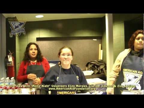 "American Aid Foundation - Interview With ""Movie Night"" Volunteers Eliza, Claribel & Elsa"