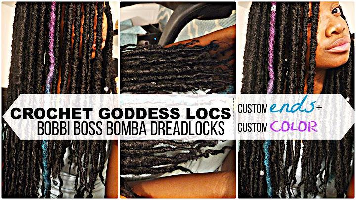 diycrochet goddess locs  custom ends  color bobbi boss bomba dreadlocks