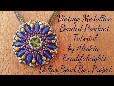 Vintage Medallion Beaded Pendant Tutorial