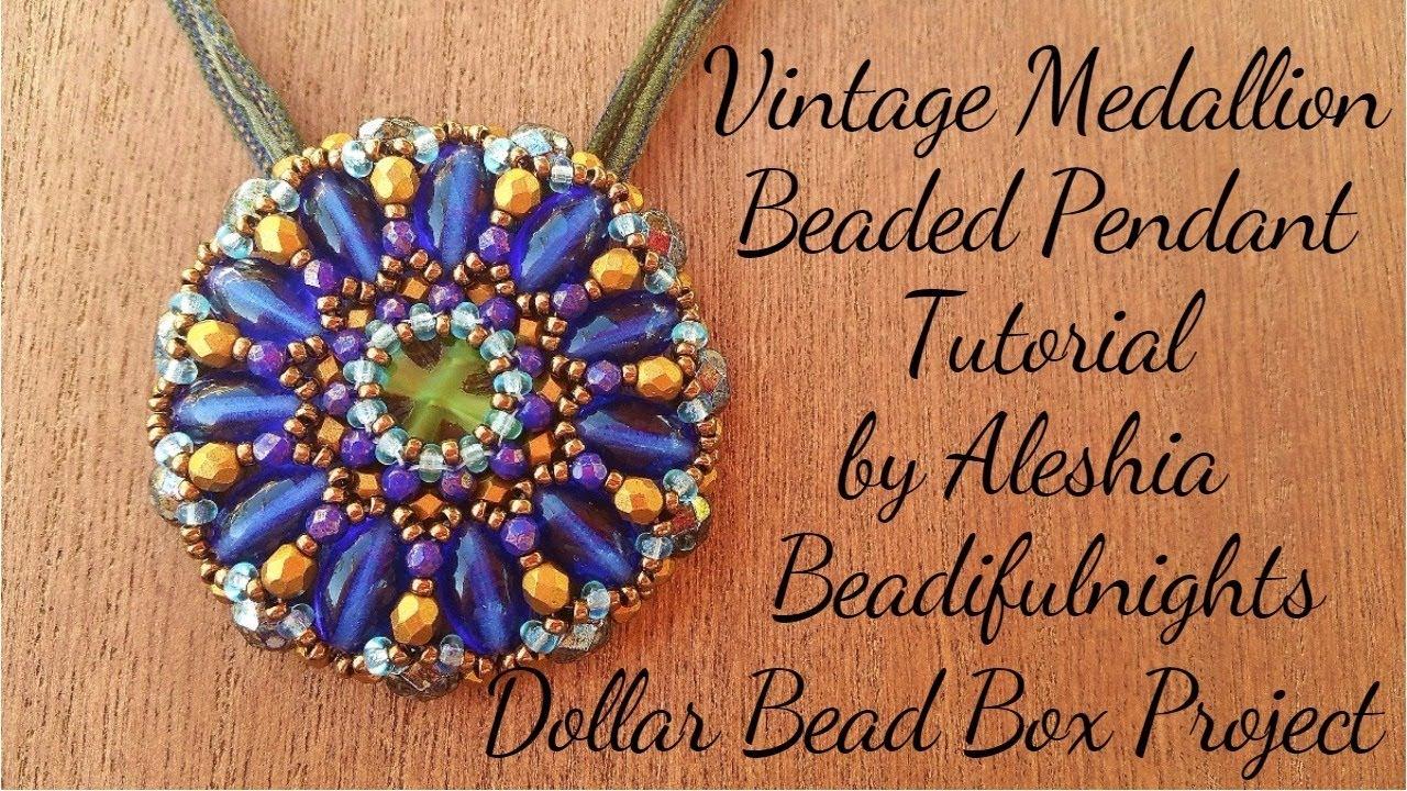 Vintage Medallion Beaded Pendant Tutorial - YouTube