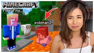 The WORST thing happened in Minecraft - Fitz and Pokimane Part 2!