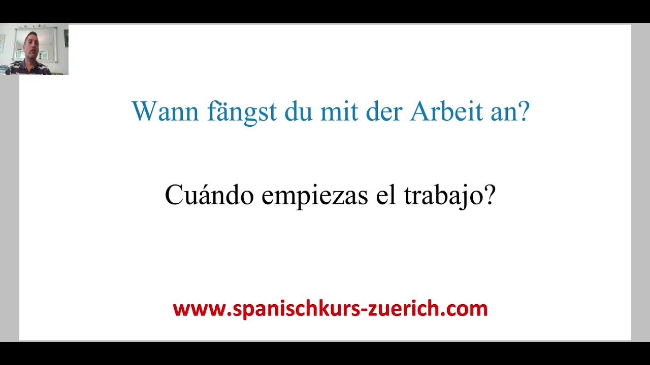 Arbeit Auf Spanisch