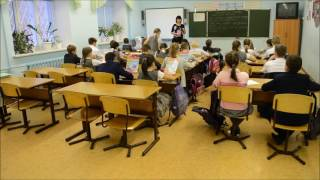 Фрагмент урока русского языка в 4 классе