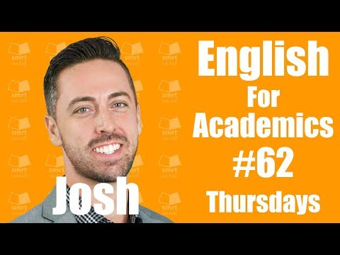 Writing - English for Academic Purposes with Josh #62