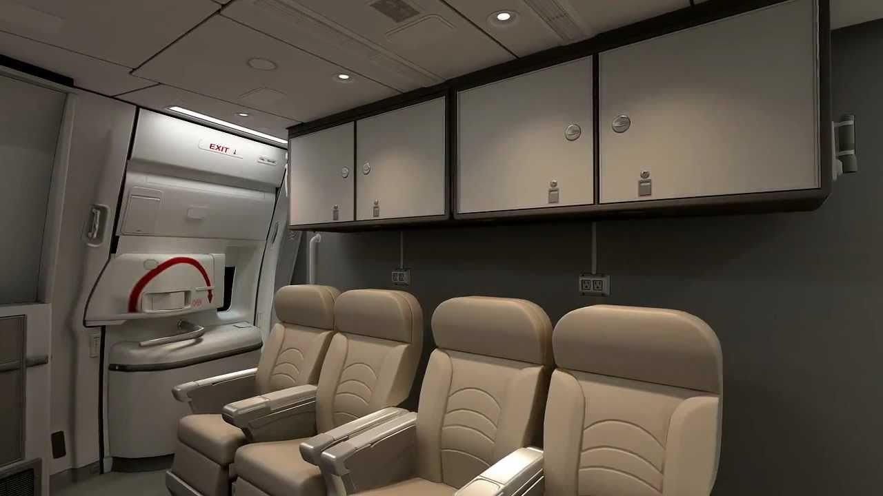 Interior of the boeing 777 cargo 3d animation made by for Boeing 777 interior