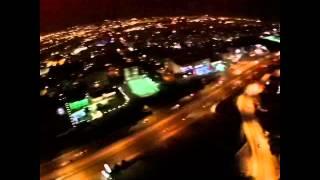 Bursa Nilüfer semti havadan gece çekimleri