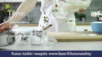 Fazer #kotonatehty: Helppo suklaajuustokakku